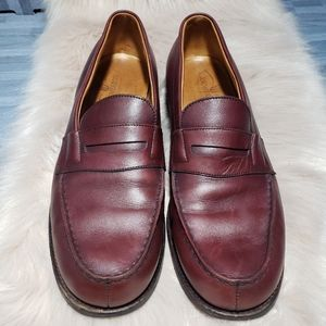 J.M. Weston red 180 Leather moccasin shoes